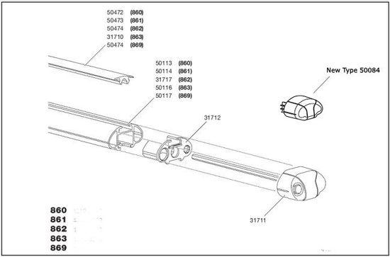 thule 50084 endkappen 4 st ck aeroprofile. Black Bedroom Furniture Sets. Home Design Ideas