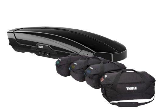THULE Dachbox Motion XT L black glossy incl. Taschenset Go 4-Pack
